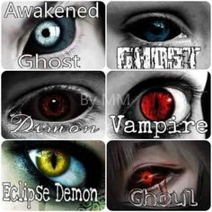 Omg I want the eclipse demon or vampire ones! Fantasy Creatures, Mythical Creatures, Dark Fantasy, Fantasy Art, Witcher Wallpaper, Eye Color Chart, Demon Eyes, Monster Eyes, Eye Pictures