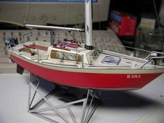 Sloop Boat Papercraft | My Paper Craft