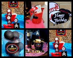 PIRATE PARTY GAMES - cannon balls out of styrofoam & rolos/gold coins for | http://party-ideas-992.blogspot.com