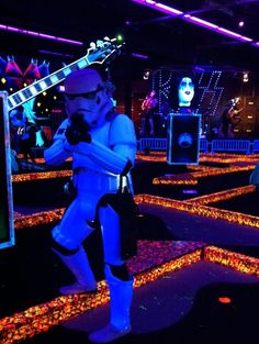 Stormtrooper getting in a round of golf @ Monster Mini-Golf Presents KISS in Las Vegas