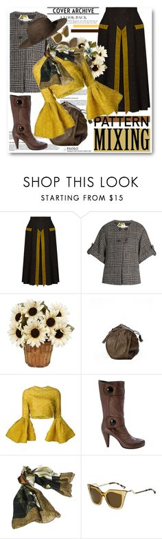 """""""Head-to-Toe Pattern Mixing and PaoloShoes"""" by paoloshoes ❤ liked on Polyvore featuring Marco de Vincenzo, Stella Jean, Christian Siriano, Borbonese, Fendi and H&M"""