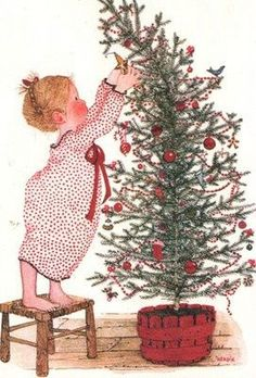 Holly Hobbie, decorating the Christmas tree.we sent this card out in the Holly Hobbie, Vintage Christmas Cards, Vintage Holiday, Vintage Cards, Christmas Past, Christmas Pictures, Christmas Crafts, Xmas, Illustration Noel