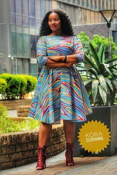 All occasions smart crayon dress African Print Fashion, African Prints, African Fashion Dresses, African Attire, African Wear, African Dress, Work Chic, Woman Dresses, Ankara Dress