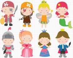 WHAT YOU ARE PURCHASING:  You will receive EIGHT adorable clip arts (in separate images) featuring fairy tale theme images: prince, princesses, knight,