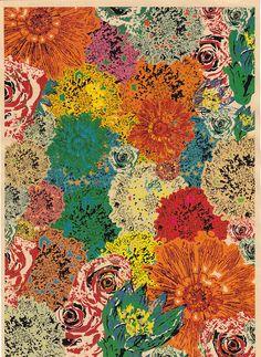 Blooming color flowers