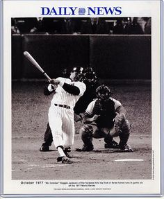 1977 NEW YORK YANKEES | Reggie Jackson 1977 New York Yankees Daily News Bill Gallo Cartoon ...