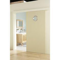Porte coulissante fr ne plaqu marron harry artens 204 x - Porte coulissante interieur pour salle de bain ...