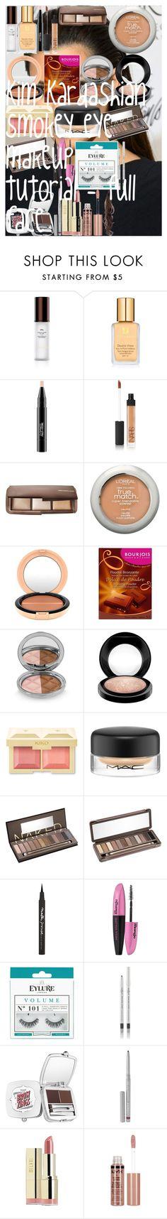 """Kim Kardashian smokey eye makeup tutorial - full face"" by oroartye-1 on Polyvore featuring beauty, Hourglass Cosmetics, Estée Lauder, MAC Cosmetics, NARS Cosmetics, L'Oréal Paris, Bourjois, By Terry, Urban Decay and Maybelline"
