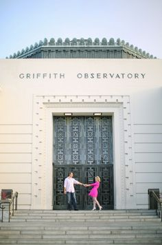 Engagement photo session at Griffith Observatory | 100 Layer Cake