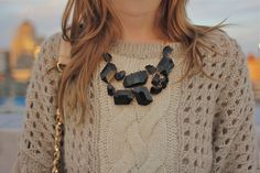 chunky necklace These look so cute with dresses or everyday outfits! they're at forever 21 and other places too