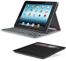 Built-in Bluetooth iPad keyboard is powered by ambient light, and the folio provides hassle-free protection for  your iPad.