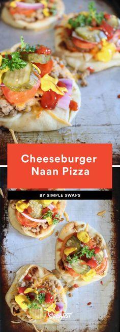 Naan Pizza Recipes: 9 Easy Ways to Make Pizza at Home Pizza Recipes, Potato Recipes, Baby Food Recipes, Healthy Dinner Recipes, Great Recipes, Healthy Snacks, Food Baby, Naan Pizza, Man Food