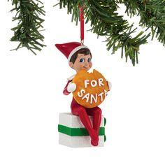 Dept 56 Elf With Santa's Cookie Ornament