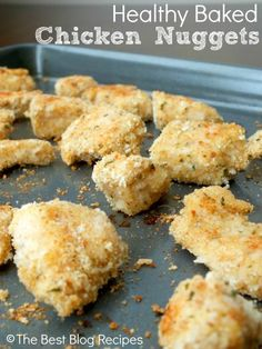 Healthy Baked Chicken Nuggets Recipe ~ A healthy and delicious way to ...