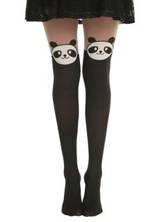 LOVEsick Panda Faux Thigh High Tights | Hot Topic