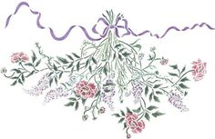 Botanical Bouquet -Small Wall Stencil by DeeSigns