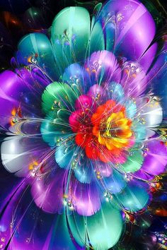 A flower of feathers...