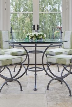 The westborough 6 seater dining table Conservatory Lighting, Conservatory Interiors, Conservatory Furniture, 6 Seater Dining Table, Wrought Iron, Flooring, Traditional, Contemporary, Chair