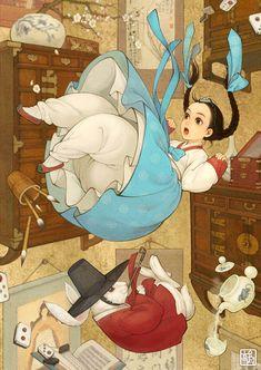 Iconos de la cultura occidental por la artista coreana Na Young Wu-Alicia