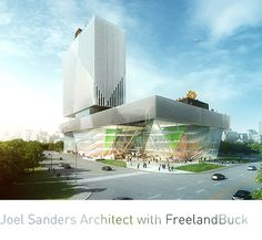 "Joel Sanders Architect with FreelandBuck: Our first-place winning design for Kunshan Phoenix Cultural Mall melds two generic building types—the mall and the cultural building—to create a unique hybrid, the ""cultural mall."""