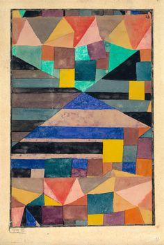 """retroavangarda: """"  Paul Klee, Blauer Berg, 1919 """""""