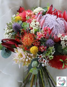 Rustic bouquet. Bride bridesmaid bouquet of rustic native