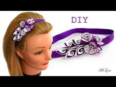 Mariposas de una cinta de raso DIY - YouTube