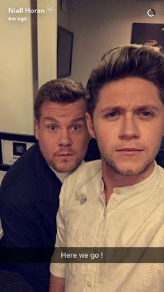 James Corden and Niall Horan James Horan, Niall Horan Baby, Naill Horan, Irish Boys, Irish Men, Larry, Tres Belle Photo, Irish Leprechaun, Members Of One Direction