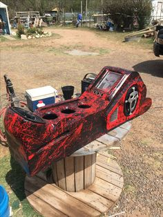 Center console with skulls. Custom Car Interior, Car Interior Design, Truck Interior, Interior Ideas, Chevy S10, Chevy Trucks, Dually Trucks, Rc Trucks, Custom Trucks