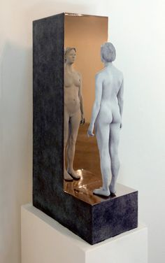 "Don Gale, Reflections III, Bronze, 24"" x 6 ½"" x 13"""