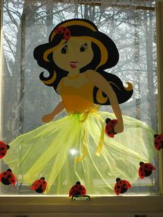 Window Fairy or Princess Baby Crafts, Fun Crafts, Diy And Crafts, Crafts For Kids, Arts And Crafts, Paper Crafts, Preschool Classroom Decor, Kindergarten Crafts, School Decorations