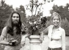 George Harrison and Pattie Boyd at Friar Park. Not too many photos of those days.