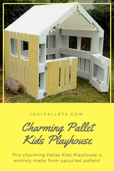 This charming, extremely InspiredPallet Kids Playhouseis entirelymade from upcycled pallets! This project will bring years imaginative play for your children! …
