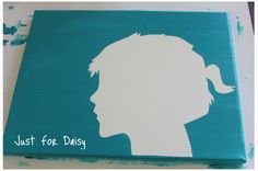 Create a Silhouette Canvas using side profile photographs. #justfordaisy