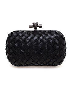 Browns fashion & designer clothes & clothing | BOTTEGA VENETA | Intrecciato Woven Leather Box Clutch