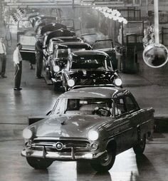 1952 Ford Assembly Line  by coconv, via Flickr