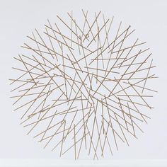 This modern abstract wall decor is crafted from metal in a gold finish. It is a beautiful artistic statement for any living space in your home. The wall decor features multiple metal rods connected together randomly. With its abstract circular design Target Wall Decor, Gold Wall Decor, Metal Wall Decor, Metal Wall Art, Wall Art Decor, Gold Walls, Metal Walls, Geometric Deer, Contemporary Wall Decor