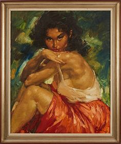 Charles Roka oljemålning