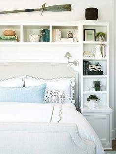 Bookcase bed surround
