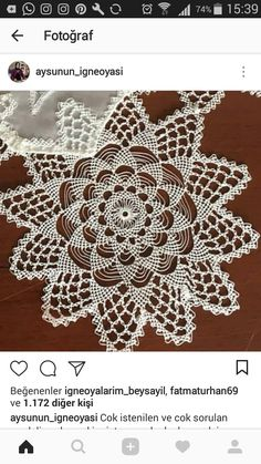 This Pin was discovered by Lal Doily Patterns, Knitting Patterns, Needle Lace, Chrochet, Beading Tutorials, Doilies, Seed Beads, Knots, Diy And Crafts