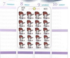 Mimi with her washi tape sticker. Use these to decorate in your planner.