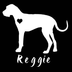 Great Dane silhouette personalized vinyl 6 car by justvinylit