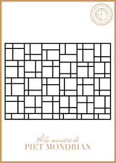 Mondrian composition art kids will have fun coloring for Art minimaliste pdf
