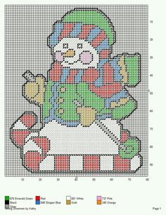 SKIING SNOWMAN *CANDY CANE SKIS* WALL HANGING by KATHY