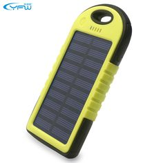 Portable Waterproof 5000mAh Solar Charger Dual USB External Battery Power Bank   Cell Phones & Accessories, Cell Phone Accessories, Chargers & Cradles   eBay!