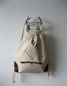 K.SILVERFOX Live Fast Canvas Backpack Tote $52.00