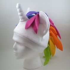 Rainbow Unicorn hat by Eitanya on Etsy, $30.00