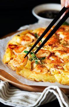 Savory Korean Shrimp Pancake