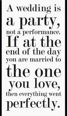 something for couples to think about when stressing over a perfect wedding #wedding #weddinginspiration