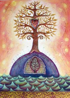 Heart Tree by Belinda Paton. Created for a story book about people finding their hearts in the form of generosity. Art, Spirit, Life.